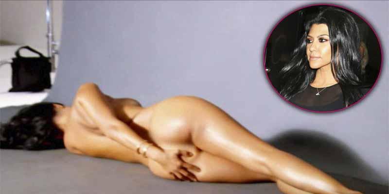 Kourtney Kardashian hace un desnudo de lujo para lanzar su lujosa web