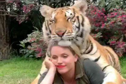 El mejor amigo de esta mujer es un tigre