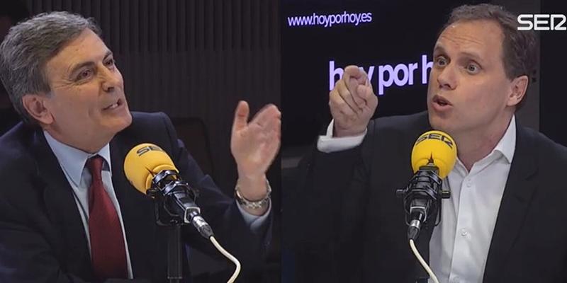 Pepa Bueno ordena apagar los micrófonos cuando Daniel Lacalle dejaba en evidencia a Pedro Saura del PSOE y a Jorge Uxó de Podemos