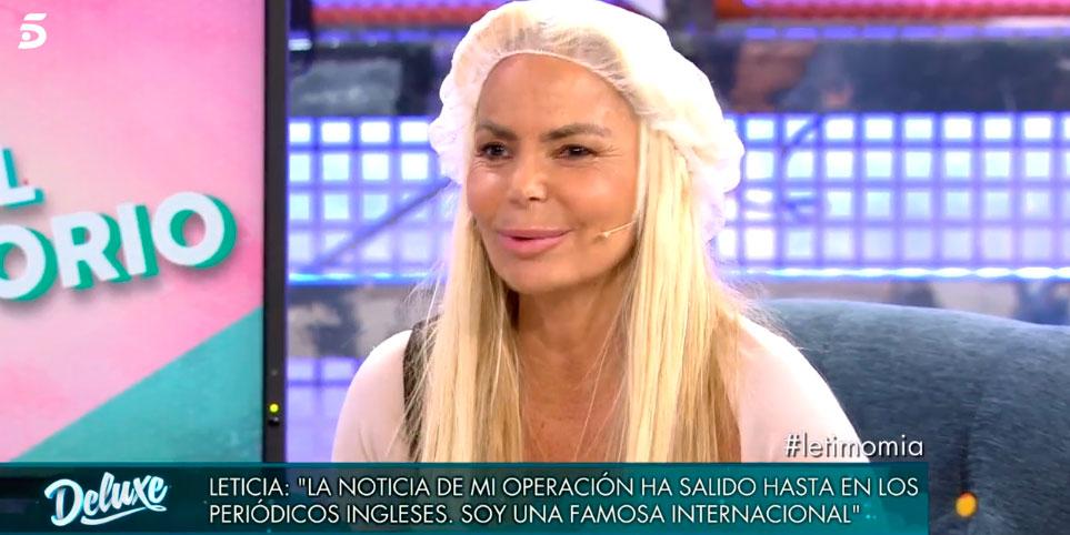 """Leticia Sabater enseña orgullosa el """"culito de chica de 25 años"""" que se le ha quedado"""
