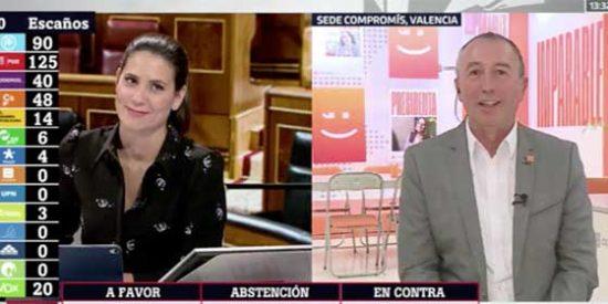 Baldoví pone firme a la sustituta de Ferreras por haberse olvidado de Compromís en su jueguecito chorra de repartir escaños