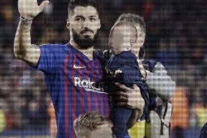La foto viral del hijo de Luis Suárez que recuerda su mordisco a Chiellini