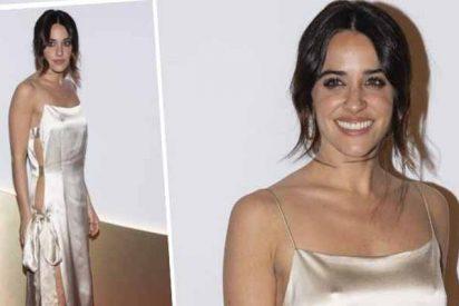 Macarena García la monta parda toda de blanco y sin ropa interior