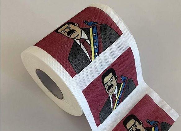 Venden papel toilet con la cara de Maduro para recaudar fondos para paliar la crisis venezolana