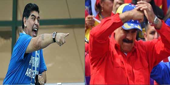 Maradona dedica el triunfo de Dorados al sátrapa Nicolás Maduro !vaya dupla!