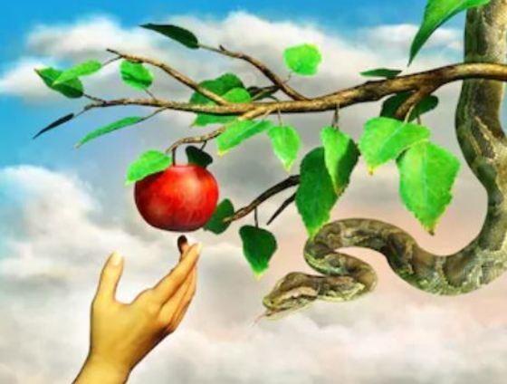la manzana como árbol prohibido
