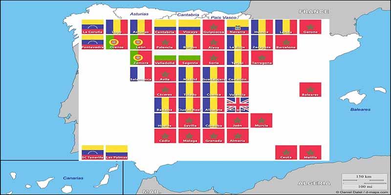 España: Los inmigrantes, provincia a provincia, por origen y cantidad