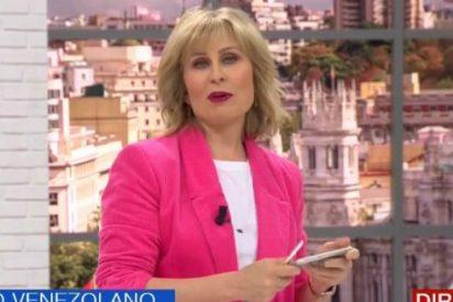 María Rey (Telemadrid) vive su momento 'tierra trágame' al sonarle el móvil en directo