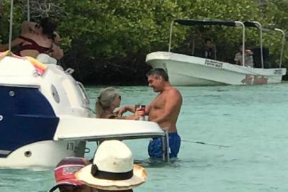Vídeo: El chavista Roberto Messuti disfruta de la lujosa playa de Los Juanes mientras Venezuela está sin luz