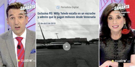 Los comediantes pésimos de Risto pretenden dar lecciones a Periodista Digital... pero acaban defendiendo al violento chavista Willy Toledo