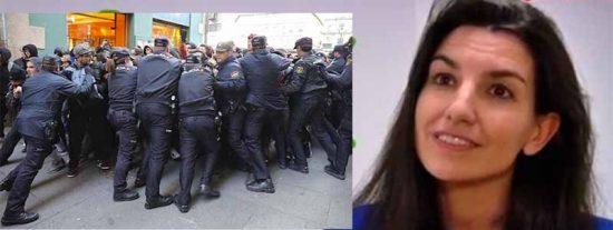 Rocío Monasterio tiene que refugiarse en un hotel al ser atacada por una turba de sectarios podemitas