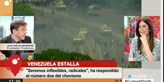"""Cristina Seguí humilla a Monedero por su nauseabunda defensa de Maduro en pleno estallido en Venezuela: """"¡Tú te forraste los bolsillos allí!"""""""