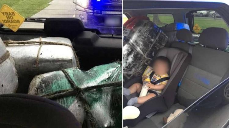 "La ""madre narco"": Transporta 125 kilos de marihuana junto a su bebé"