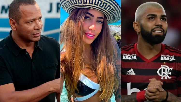 El padre de Neymar la lía: Pelea en público con el futbolista 'Gabigol', el ex de su hija
