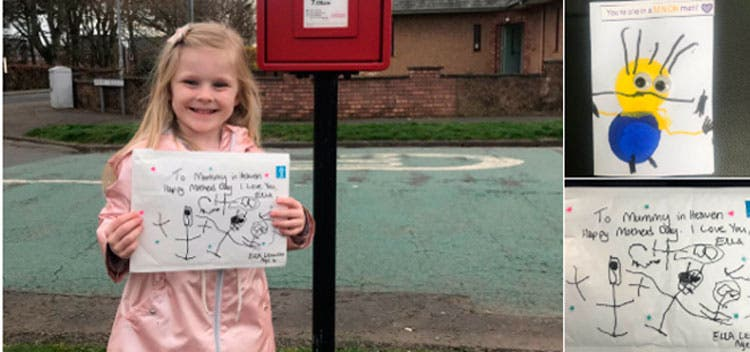 Una niña envía una carta a su madre que 'está' en el cielo y recibe contestación
