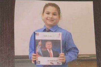 Estudiante escoge a Trump como su héroe, pero la profesora se lo prohíbe