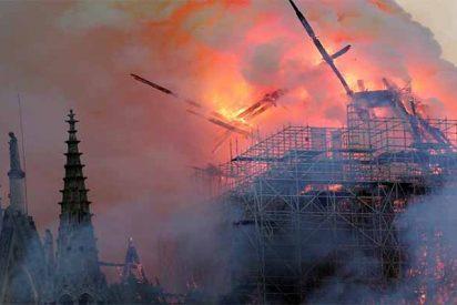Un diabólico incendio destruye la catedral de Notre Dame