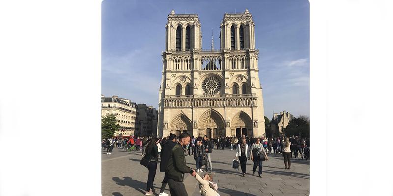 Esta es la fotografía de Notre Dame tomada justo antes del incendio que se ha hecho viral