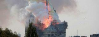 París: Los obreros fumaban en los andamios de Notre Dame