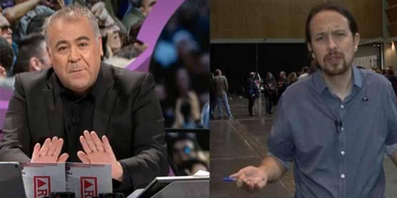 """""""No me hagáis esto"""": el quejido de un patético García Ferreras en plena entrevista con Pablo Iglesias"""
