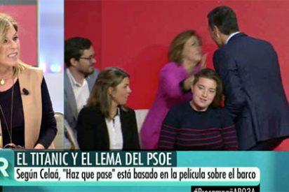 Cómo será de malo el eslogan del PSOE que hasta Palomera echa pestes y sugiere que ya habrán rodado cabezas...