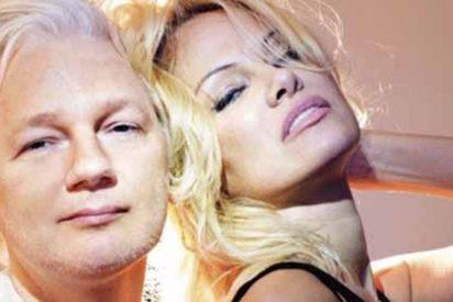 """Los desmanes de Pamela Anderson en Twitter por el arresto de Julian Assange: """"Se PUDRIRÁN"""""""
