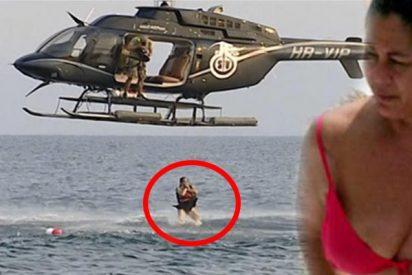 El saltito light desde el helicóptero de Isabel Pantoja y otros privilegios caribeños