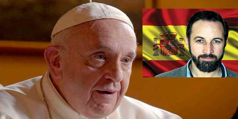"""Santiago Abascal se refiere al Papa Francisco como """"ciudadano Bergoglio"""" y pone los puntos sobre las íes"""