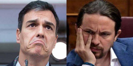 Vértigo en el PSOE tras el pufo de Sánchez en los debates y la resurrección de Iglesias