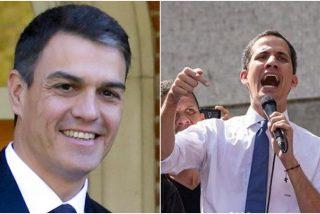 Pedro Sánchez recibe el 'voto de confianza' de Guaidó en la lucha contra la dictadura chavista