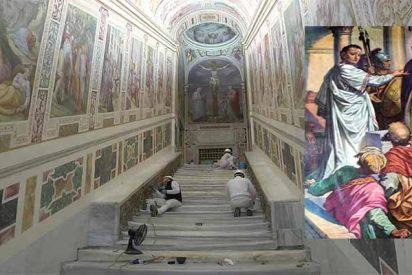 El Vaticano exhibe la escalera de mármol que subió Jesús para ser juzgado por Poncio Pilatos