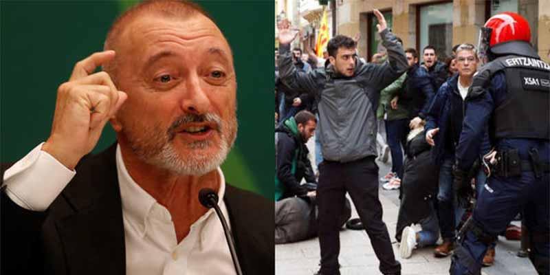 El tuit viral que comparte Pérez-Reverte sobre el ataque de los proetarras a Ciudadanos en Rentería