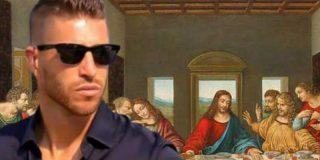 Sergio Ramos es Jesucristo en el cuadro de la 'Última Cena' que tiene colgado en el salón de su casa
