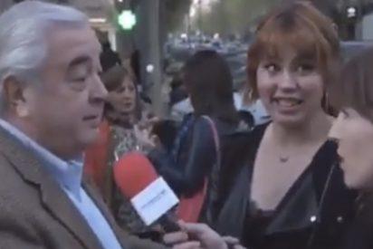 """""""¡Qué cagadón!"""": La reportera patosa se cuela donde no debía para hacer una encuesta callejera"""
