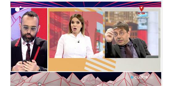"""Risto y Monedero, 'a mamporros' en Cuatro: """"¡A mí no se me llama mentiroso!"""""""