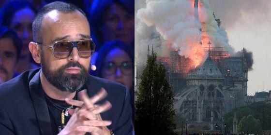 El 'sobradete' Risto Mejide mete la pata en su comentario sobre el incendio de Notre Dame