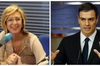 """Rosa Díez hace fosfatina a Sánchez: """"Hay que ser sinvergüenza para hablar de memoria mientras blanqueas a ETA"""""""