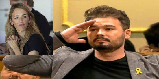 Rufián sube un tuit infecto mofandose de la agresión 'separata' a Cayetana Álvarez de Toledo y lo crujen