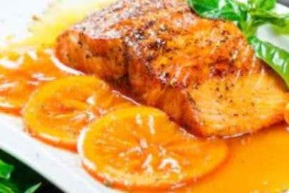 Salmón a la naranja, receta fácil