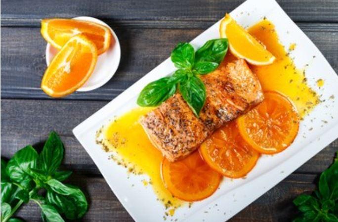 Salmón a la naranja