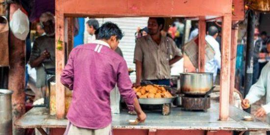 puestos de samosas en la India