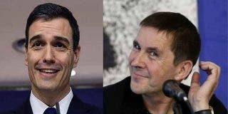 Sánchez abraza a Otegi en Navarra para comenzar a articular su 'Gobierno Frankenstein 2' en Madrid