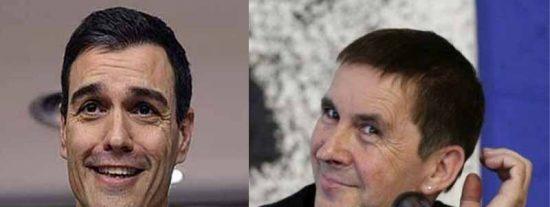 El indigno Sánchez suplica y acepta el voto ensangrentado del etarra Otegi