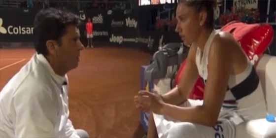 La tenista Sara Sorribes defendió la polémica arenga que recibió de su entrenador Germán Puentes