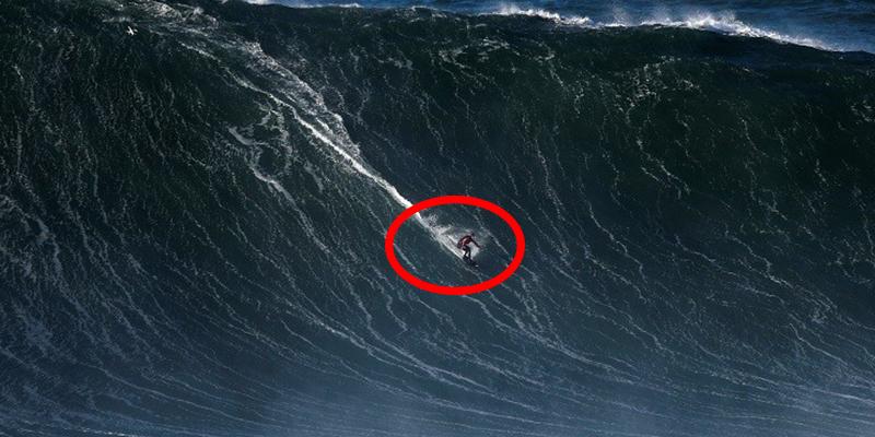 Así fue el impresionante rescate de un surfista portugués atrapado entre gigantescas olas