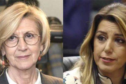 """Rosa Díez: """"Dice Susana Díaz que 'jamás descolgaría el teléfono para llamar a Bildu'. Menuda hipocresía: ya lo descuelga su jefe"""""""