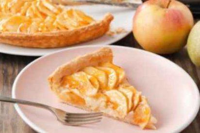 Tarta de manzana hojaldre, receta fácil