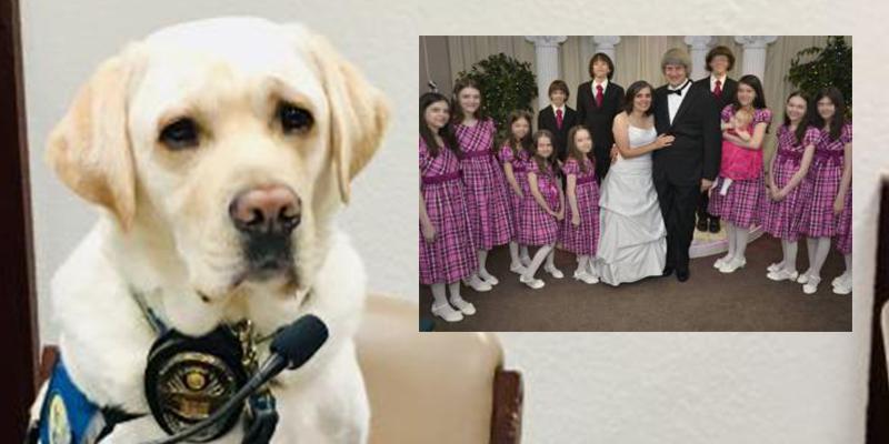 ¿Sabías que los niños Turpin tenían a este perro policía cuando encararon a sus padres en el juzgado?