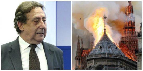 Alfonso Ussía no se traga la involuntariedad en la catástrofe de Notre Dame y ve una mano negra tras el incendio