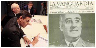 La Vanguardia invita a Sánchez a diseñar su portada y los tuiteros le recuerdan otras portadas suyas a mayor gloria del poder de turno